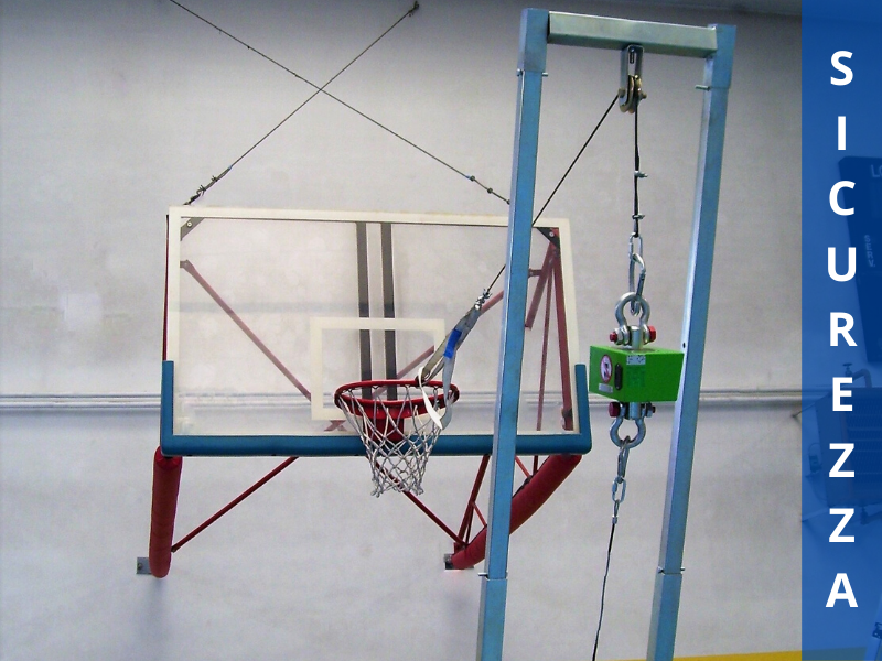 sicurezza canestro basket